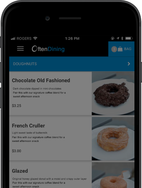 Mobile and Online Ordering
